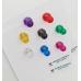 Набор неодимовых магнитов, цветные